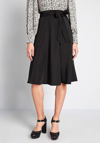 ModCloth ModCloth On My Way A-Line Skirt in Black