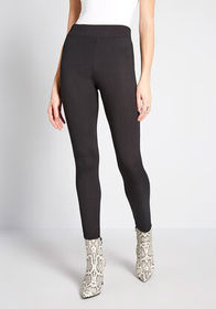Of Everyday Interest Ribbed Leggings Black