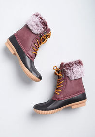 Duck, Duck Cute Boot Burgundy