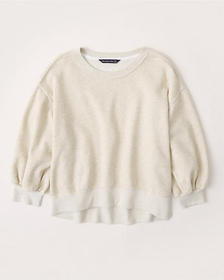 Balloon Sleeve Sweatshirt, CREAM