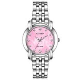 CITIZEN Citizen Eco-Drive Womens Diamond Pink Moth