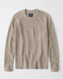 Crew Neck Sweater, LIGHT BROWN