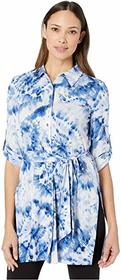 Calvin Klein Printed Roll Sleeve Tunic