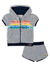 Juicy Couture Little Girl's 2-Piece Striped Hoodie