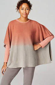 Pure Jill Dip-Dyed Sweater-Knit Poncho