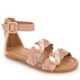 Toddler Girl Braided Band Ankle Strap Sandals