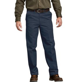 Genuine Dickies Men's Flat Front Comfort Waist Pan