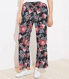 Floral Dot Fluid Drawstring Pants