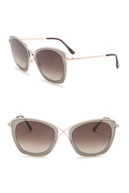 Tom Ford India 53mm Squared Cat Eye Sunglasses