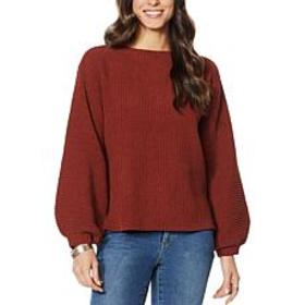 """""""As Is"""" G by Giuliana Matte Chenille Sweater"""
