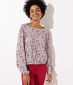 Paisley Wrap Back Cropped Top