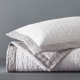 Chambers® Washed Linen Border Quilt & Shams on sale at Williams-Sonoma