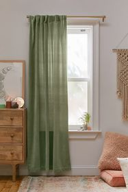Cotton Velvet Window Panel