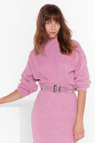Nasty Gal Rose Ain't No Doubt About Knit High Neck