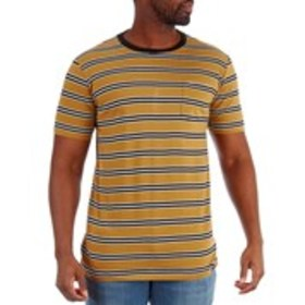 WESTY Mens Striped T-Shirt With Chest Pocket