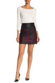 CLUB MONACO Boidie Floral Embroidered Faux Leather