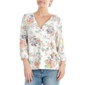 BELLE BY BELLDINI Floral Hacci Knit Wrap Top