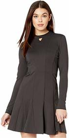 Nicole Miller Ponte Fit-and-Flare Dress