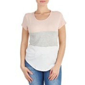 MARCI Juniors Color Block Crepe Tee