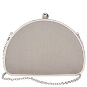 JESSICA MCCLINTOCK Half Moon Fabric Frame Clutch