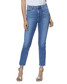 PAIGE - Sarah Ankle Slim-Leg Jeans in Trail
