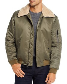 7 For All Mankind - Sherpa-Trim Regular Fit Bomber