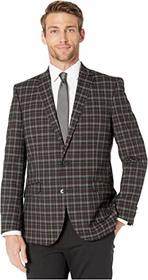 Kenneth Cole Reaction Slim Fit Burgundy Plaid Stre