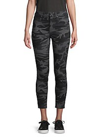 Levi's Camouflage-Print High-Rise Cropped Jeans BL