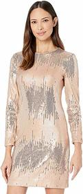 Vince Camuto Sequin Long Sleeve T-Body Dress