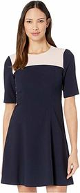 Vince Camuto Kors Crepe Elbow Sleeve Color-Block F