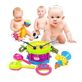 Baby Concert Toys 5PC New Roll Drum Musical Instru