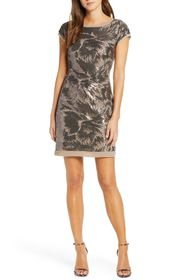 Vince Camuto Extended Cap Sleeve Dress