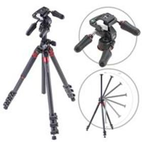 3Pod Orbit 4 Section Tripod with 3-Way Head, Carbo