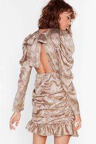 Nasty Gal Taupe Way to Grow Floral Mini Dress