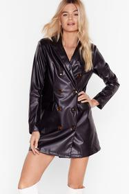 Nasty Gal Black Ain't Faux Leather Going Back Blaz