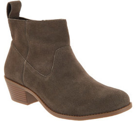 """As Is"" Vionic Water-Resistant Suede Ankle Boots -"