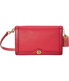 COACH Color-Block Mixed Leather Riley Crossbody