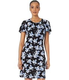 Tommy Hilfiger Blossom Bouquet Jersey A-Line Dress