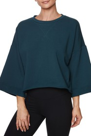 Betsey Johnson Dolman Sleeve Boxy Sweatshirt