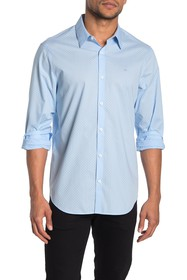 Calvin Klein Ditsy Print Regular Fit Poplin Shirt