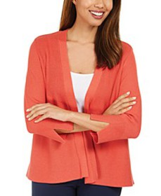 Mixed-Ribbed Split-Sleeve Cardigan, Created For Ma