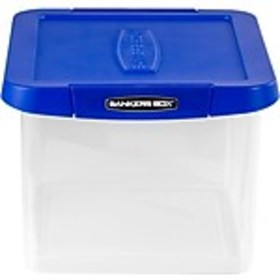 Bankers Box Heavy-Duty Plastic File Box, Letter/Le