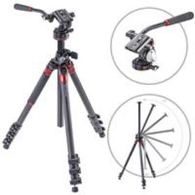 3Pod Orbit 4 Section Tripod with Q2 Fluid Video He