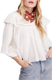 Free People Laura Eyelet Lace Blouse