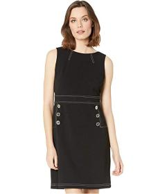 Tommy Hilfiger Button Waist Shift Dress