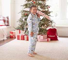 Pottery Barn Winter Bear Flannel Pajama
