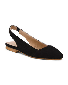 SOPHIA MILANO Made In Italy Pointy Suede Sling Fla