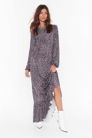 Nasty Gal Black You Dot Lucky Relaxed Maxi Dress