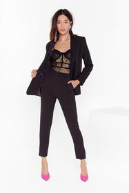 Nasty Gal Black Suit Up High-Waisted Pants