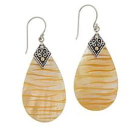Bali Designs Sterling Silver Mother-of-Pearl Carve
